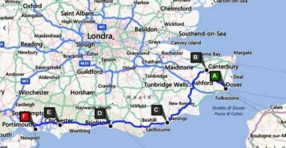 Cartina Stradale Inghilterra Del Sud.Viaggio In Inghilterra Del Sud Estate 2012